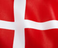3D illustration. Flag of denmark waving in the wind.