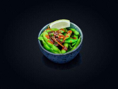 A4. Soyabønner med chilisauce